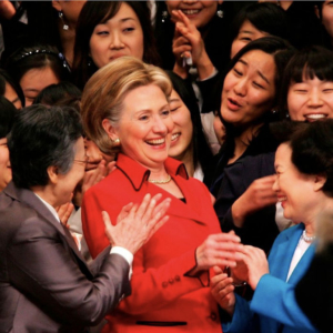 Hillary Clinton in Susanna Beverly Hills